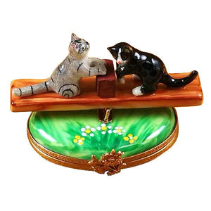 See Saw Cats Limoges Box by Rochard™-Limoges Box-Rochard-Top Notch Gift Shop
