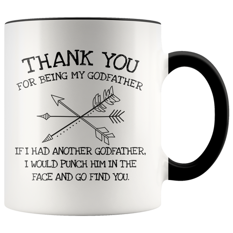 Thank You for being my godfather accent mug