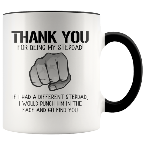 Thank you for being my stepdad accent mug