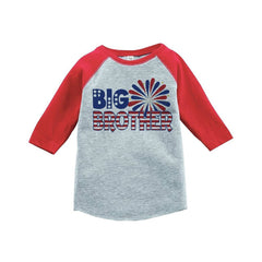 7 ate 9 Apparel Big Brother 4th of July Raglan Tee