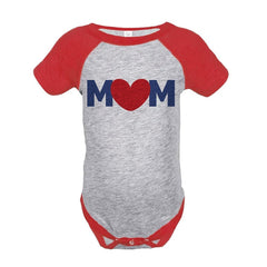 7 ate 9 Apparel Boy's Mothers Day Baseball Onepiece