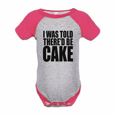 7 ate 9 Apparel Girl's Funny Cake Birthday Pink Raglan Onepiece