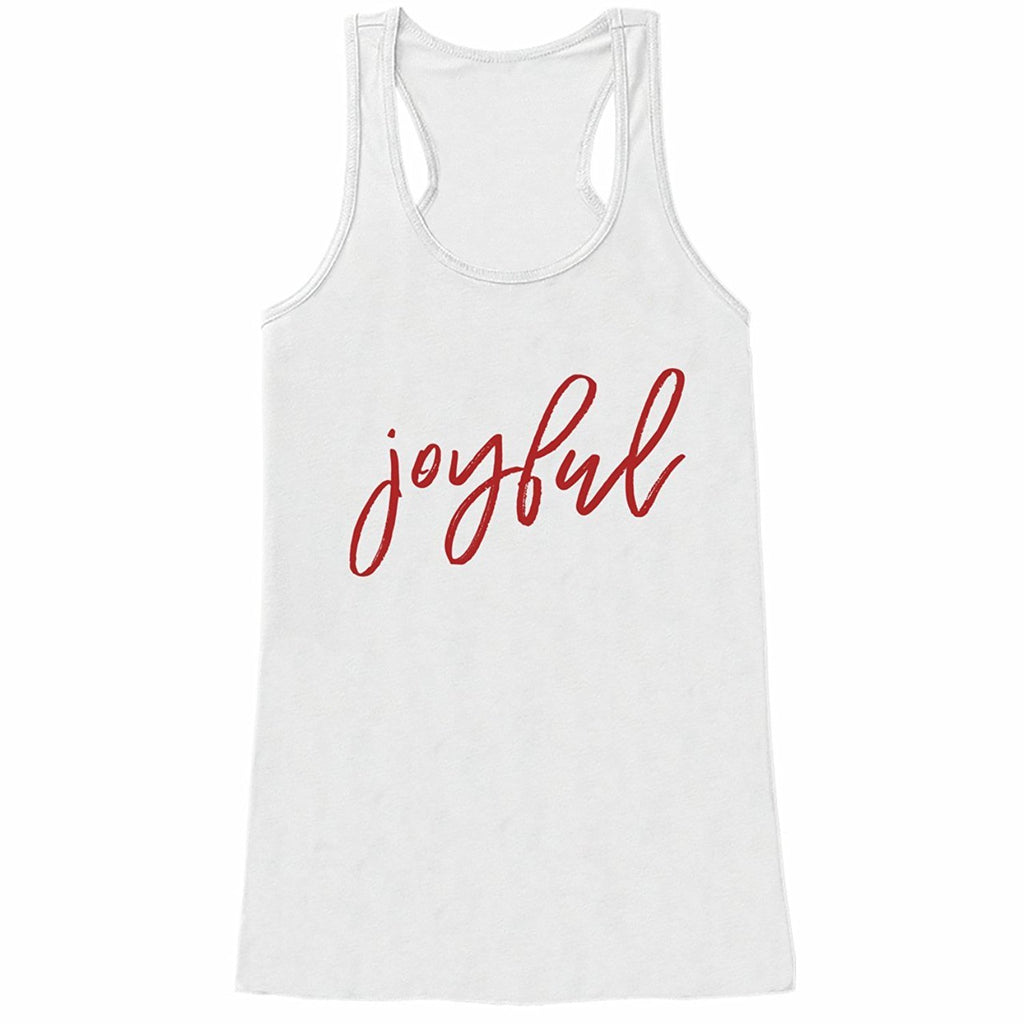 Joyful - Women's White Tank Top