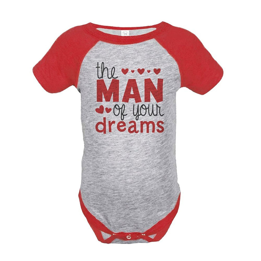 7 ate 9 Apparel Baby Boy's Valentine's Day Onepiece