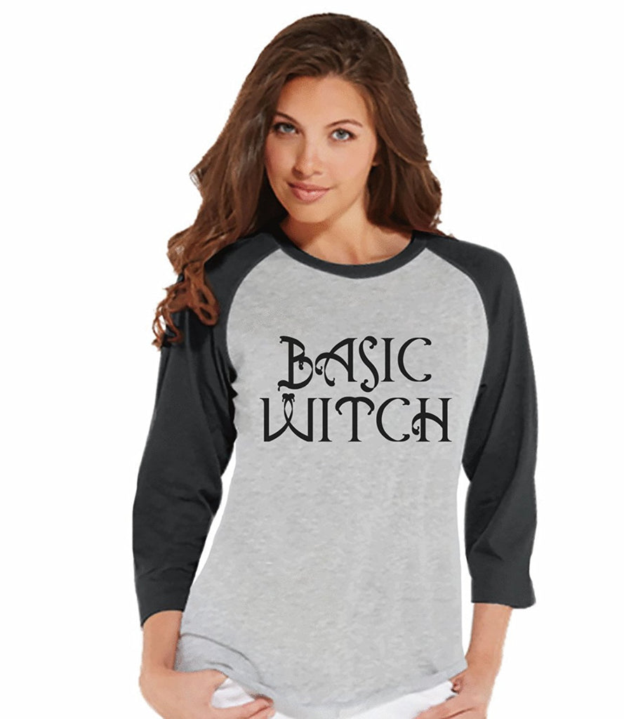 7 ate 9 Apparel Womens Basic Witch Halloween Raglan