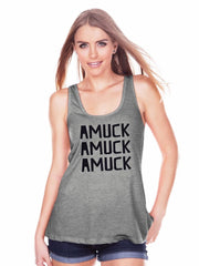 7 ate 9 Apparel Womens Amuck Halloween Tank Top