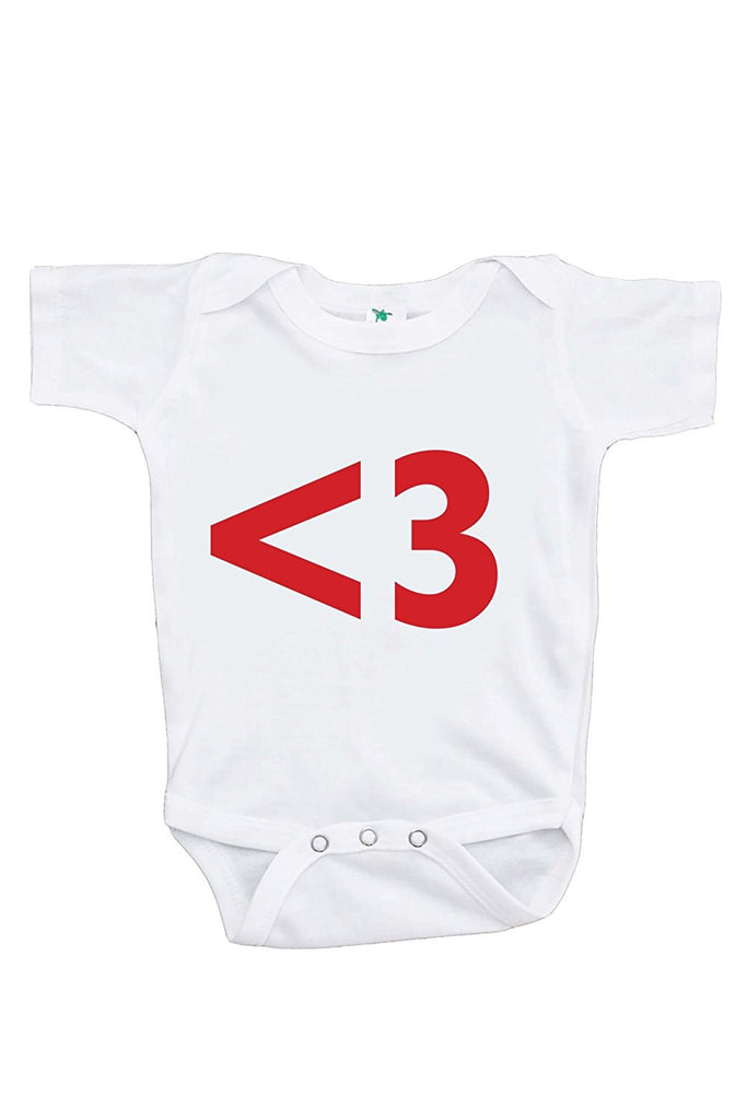 7 ate 9 Apparel Baby's <3 Heart Happy Valentine's Day Onepiece