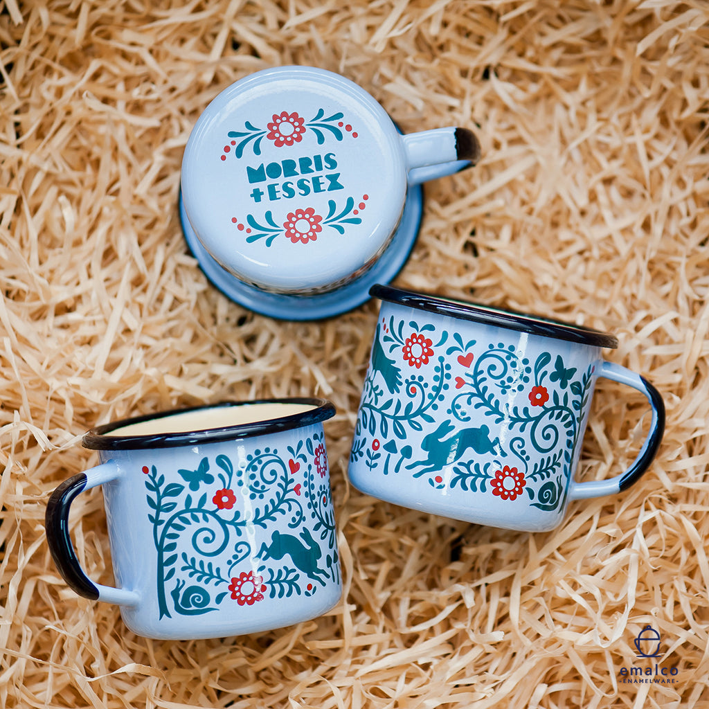 ENAMEL MUGS ARE HERE! and you could win one for free!
