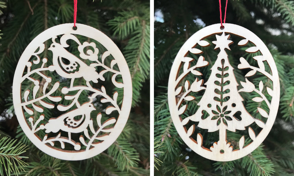 Introducing our brand-new Natural Birch Wood Ornaments!