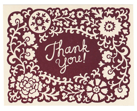 Opulent Thank You card, blank inside