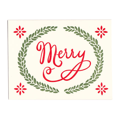 Letterpress Holiday Card, Merry Christmas, made in Maine by Morris & Essex