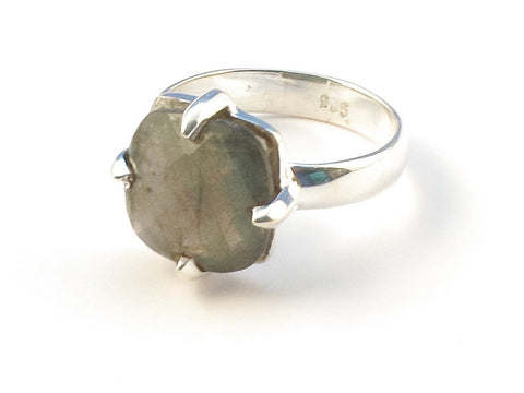 Design 113023 Jewelry Store Square Labradorite .925 Sterling Silver Jewelry Ring Size 7