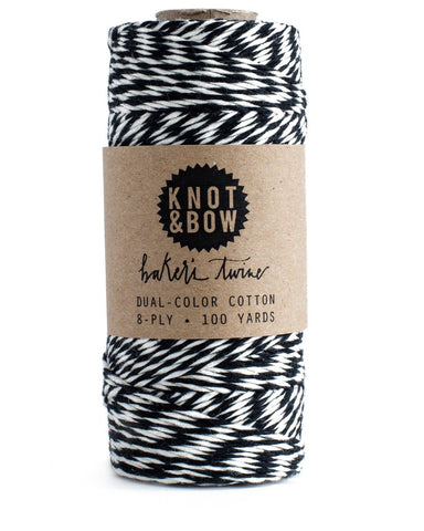 Black and White Bakers Cotton Twine