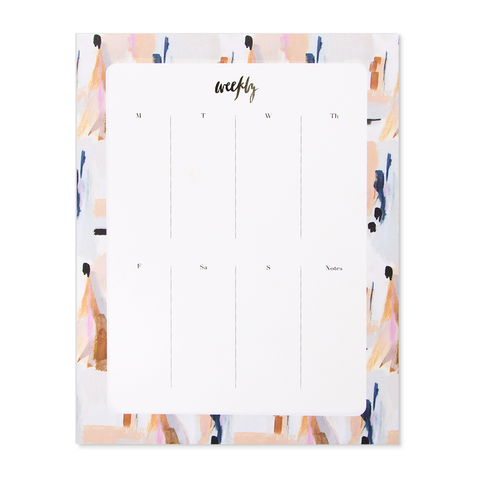 Blue Abstract Agenda Pad