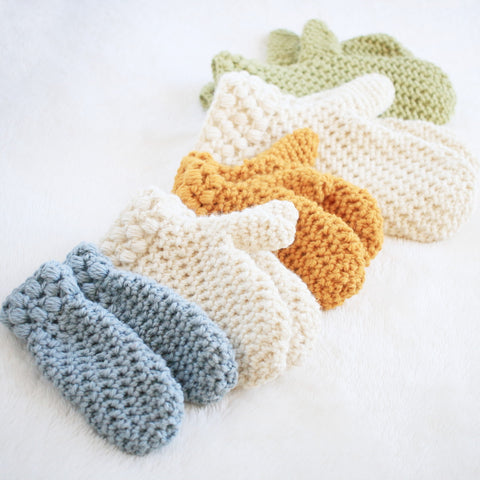 Crochet Pattern  - Gathered Buds Mittens P-GBMittens