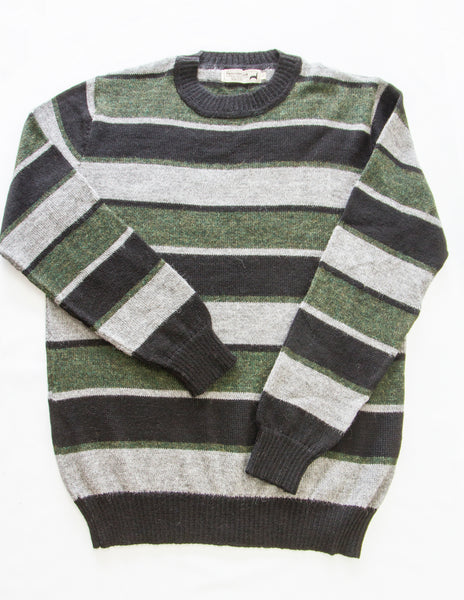 Men's Striped Crew Neck Sweater