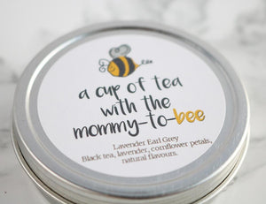 "A Cup of Tea with the Mommy to ""Bee"" Baby Shower Favours-Tearrific"