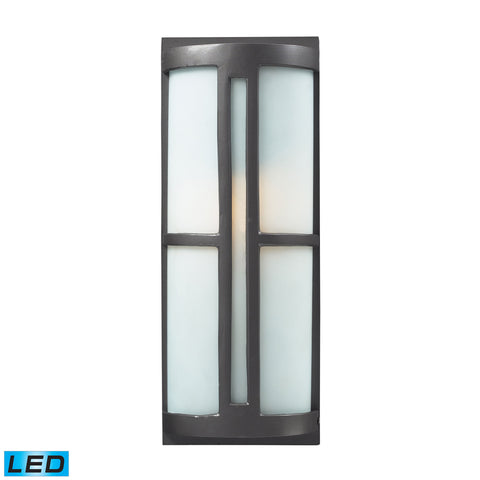 ELK Lighting  1- Light Outdoor Sconce in Graphite - LED Offering Up To 800 Lumens (60 Watt Equivalent) with Full R