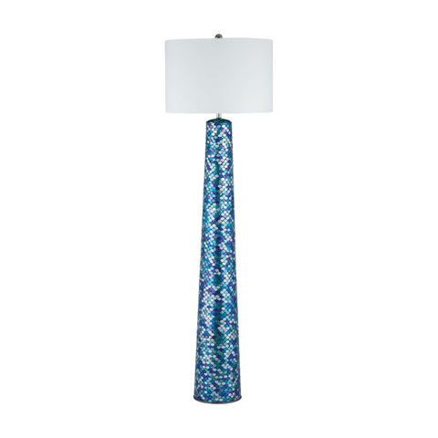 Beautiful Dimond Lighting  Aphrodisia Floor Lamp  in  Mosaic Glass, Linen