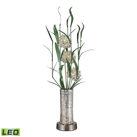 Beautiful Dimond Lighting  6W LED CONTEMPORARY FLORAL DISPLAY FLOOR LAMP IN SILVER FINISH  in  Aluminum