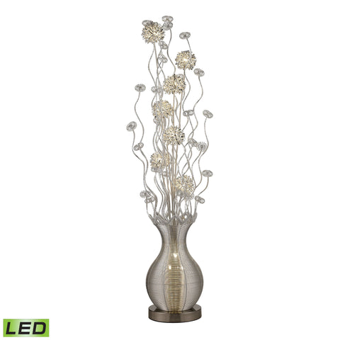 Beautiful Dimond Lighting  15W LED CONTEMPORARY FLORAL DISPLAY FLOOR LAMP IN SILVER FINISH  in  Aluminum
