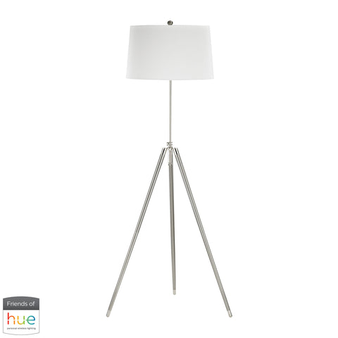 Beautiful Dimond Lighting  Academy Floor Lamp - with Philips Hue LED Bulb/Bridge  in  Linen, Metal