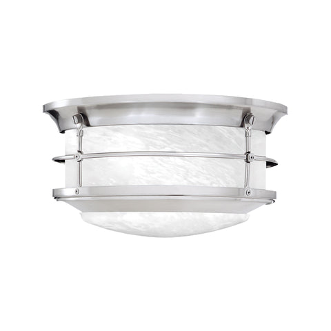 Thomas NEWPORT ceiling lamp Brushed Nickel 2x60