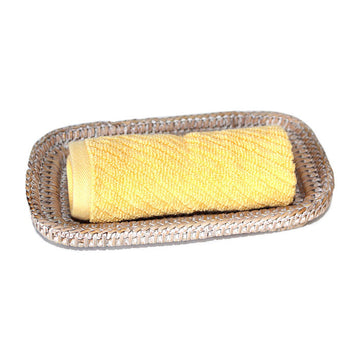 Guest Towel Roll Tray - White Wash - Blue Rooster Trading