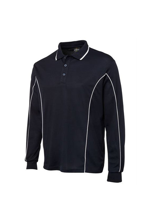 JBs Men's Piping L/S Polo - Workwear Warehouse