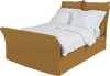 Umber  Linen Song Double Bed Additional Cover