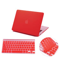 Matte Hardshell Case + Keyboard cover for Apple Macbook Red