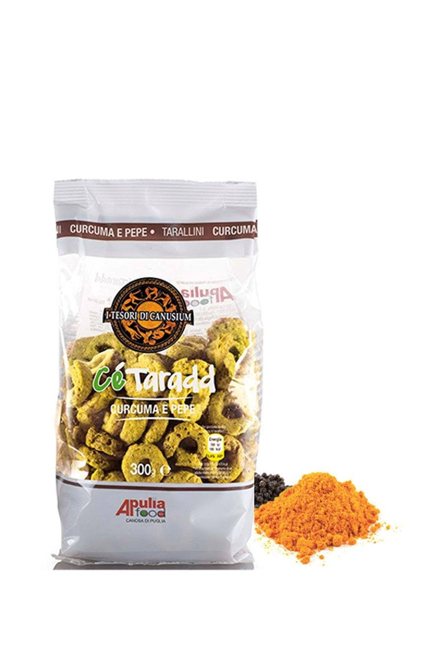 Italian Taralli Turmeric and Pepper Taste 300g