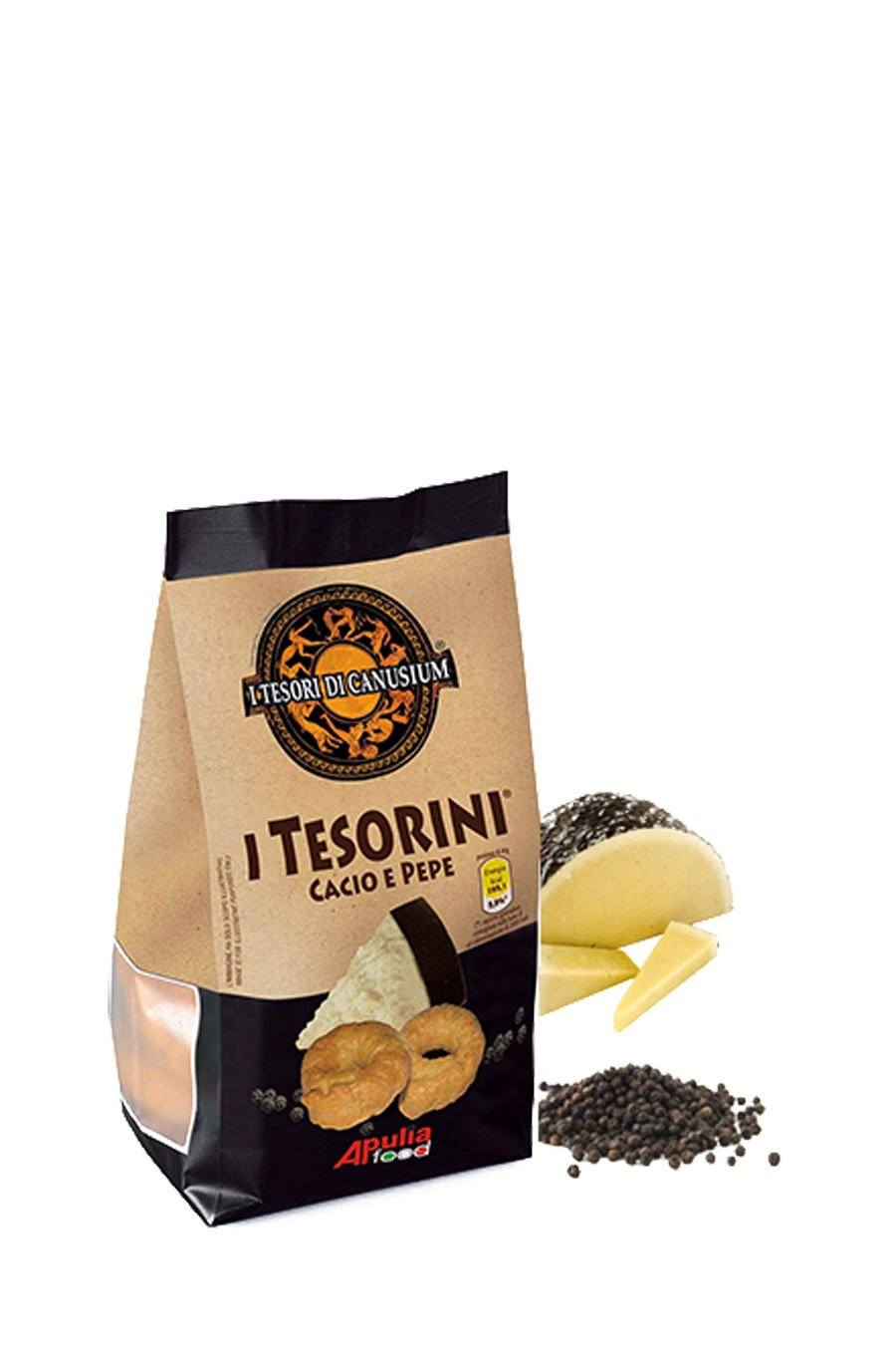 Italian Taralli Cheese & Pepper 225g