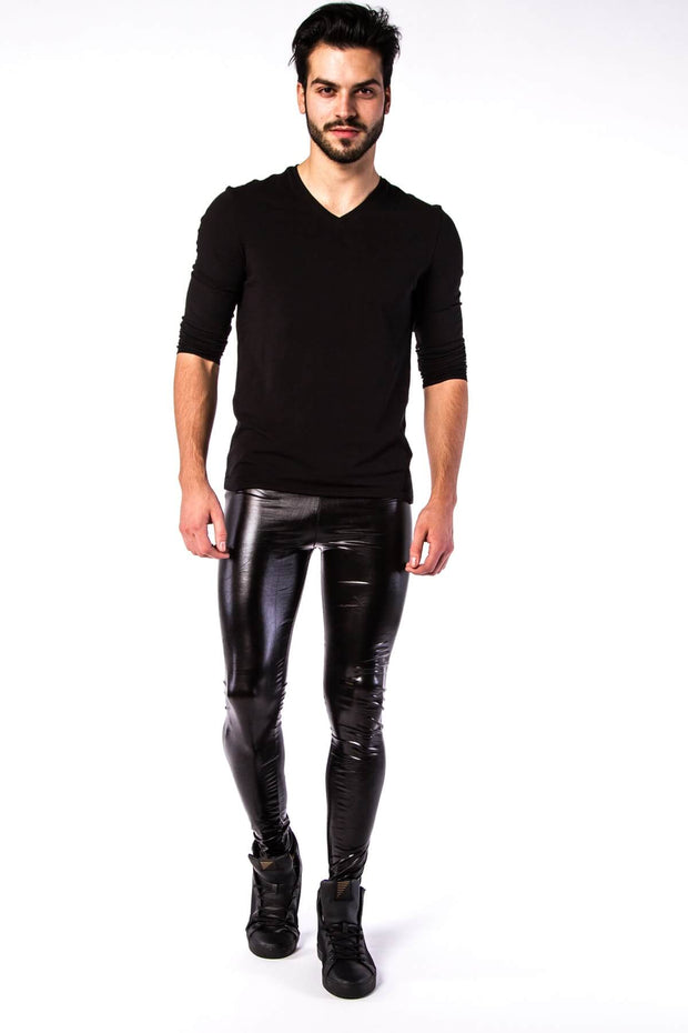 Nightrider Meggings - Wet Look