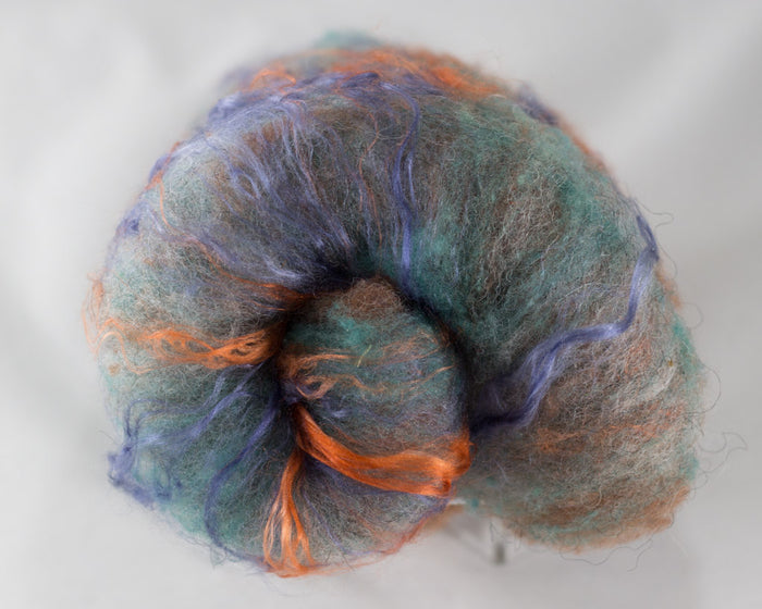 Rambouillet Icelandic Silk Batts, Sedona - Buchanan Fiber Co.