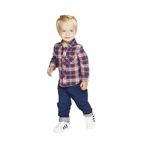 Little Brother Henry Plaid Set