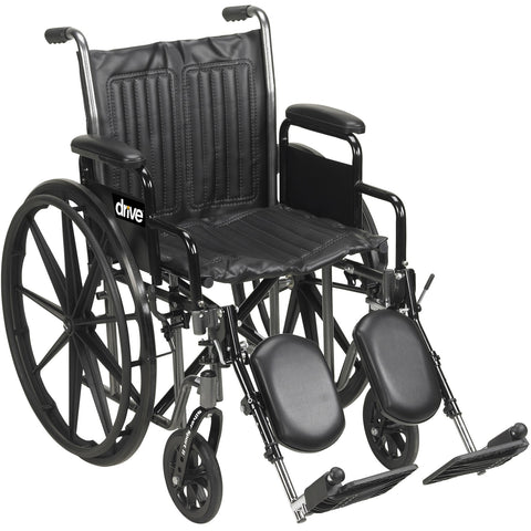 Drive Medical Silver Sport 20 inch wide Wheelchair
