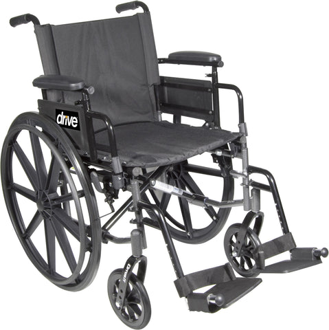 Drive Medical Cirrus IV Wheelchair High Strength, Lightweight Dual-Axle