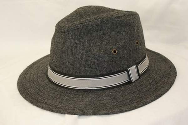 NZ Made Fashion Accessories Mens Marle Wool Fedora (Medium to Large) - Grey