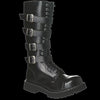 STEEL - 20 Eyelet Black 4 Buckle Steel-Toe Boot