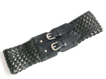 "The Black ""Zanna"" Interwoven Belt"