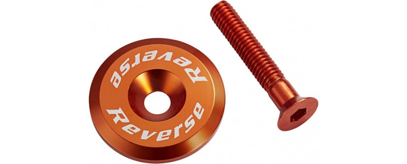 REVERSE HEADSET TOP CAP ALLOY ORANGE