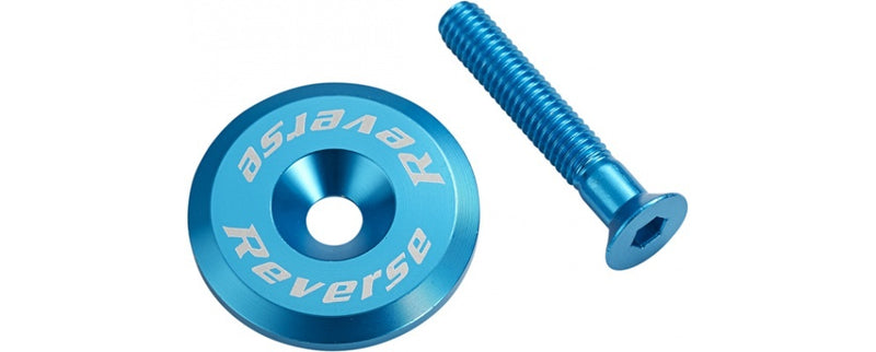 REVERSE HEADSET TOP CAP ALLOY LIGHT BLUE