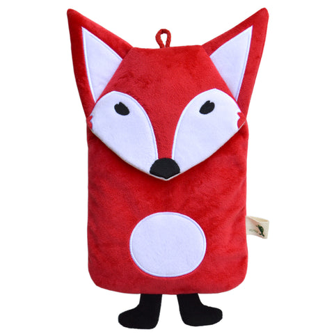 "0.8 litre ""Eco-Sustainable"" Hot Water Bottle with Red Fox Cover (rubberless)"