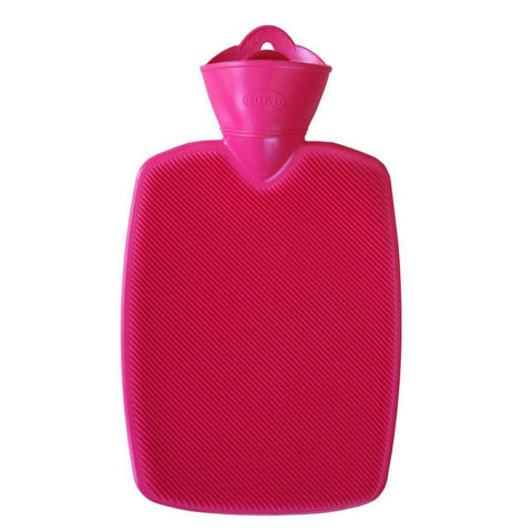 1.8 Litre Part Ribbed Pink Hot Water Bottle (rubberless)