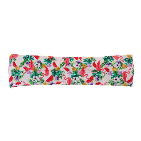 Flamingo Print Scented Microwaveable Body Wrap - Top View