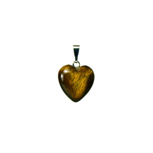 Heart Shaped Natural Tiger Eye Gemstone Pendant