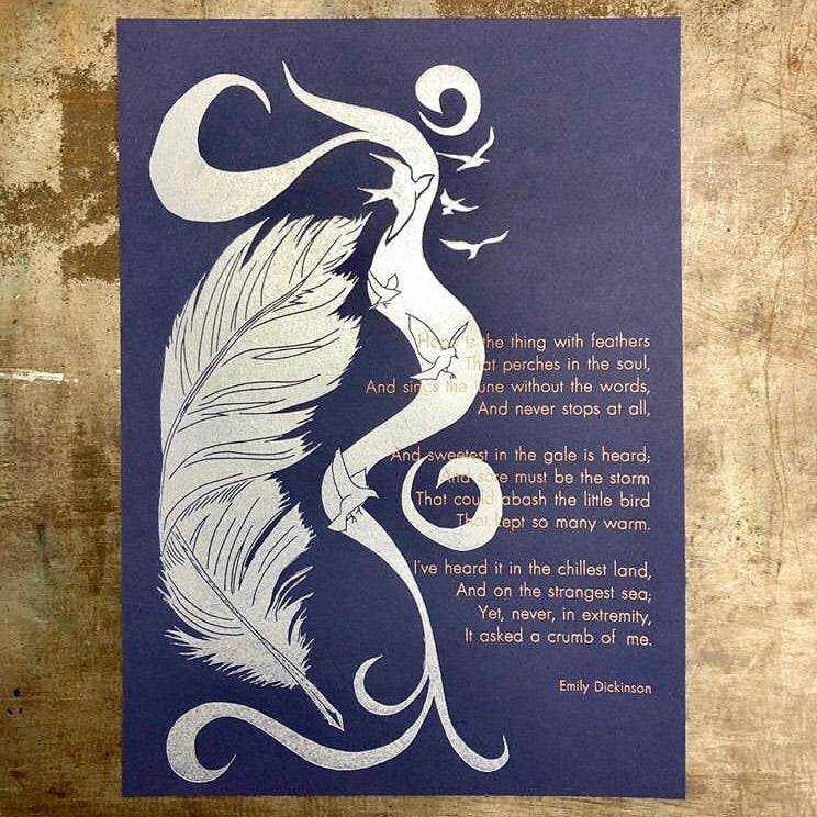 """Hope is a thing with feathers..."" Print"