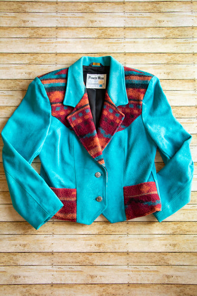 Vintage Pioneer Wear Turquoise Jacket - Cowgirl Relics
