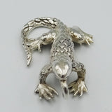 925 Sterling Silver Scaled Iguana Pendant 6.9g